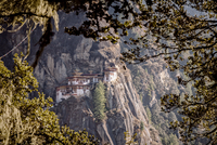 Monastery on rocks, Paro Taktsang, Bhutan