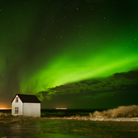 View of Northern Lights, Gullbringusysla, Iceland