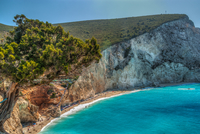 Cliff over sea, Porto Kaseko, Lefkada Island, Greece