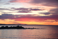 Sunset over lake, Canada