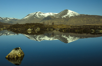 Mountains reflections in Lochan Na-H Achlaise, UK