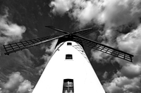 White Lytham Windmill against sky, Lytham St Annes, Lancashire, England, UK