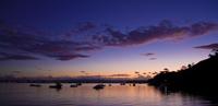 Sunset over lake, Anchorage, Alaska, USA