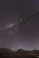 Milky way over Mount Bromo, Java, Indonesia