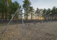 Empty swings, New Hampshire, New England, USA