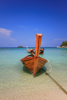 Seascape with wooden boat, Koh Lipe, Thailand