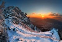 Mountain peak at sunset, Slovakia