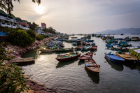Fishing boats on water, Cheung Chau, Hong Kong, China