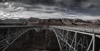 Silver Navajo Bridge over Colorado river in Marble Canyon, Arizona, USA