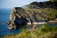 Lulworth Cove cliff, Lulworth, England, UK