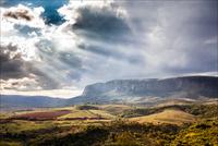 Canastra Mountains in sunlight, Serra da Canastra National Park, Minas Gerais, Brazil