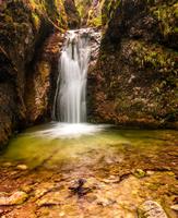 Waterfall on sunny day, Slovakia