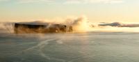 Rocher Perce at sunrise, Quebec, Canada
