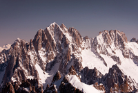 View of Aguille Verteand Les Droites peaks, Alps, France