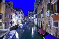 Venice channel at dusk, Venice, Italy