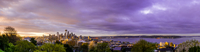 Cityscape at sunrise, Queen Anne, Seattle, USA