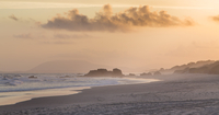 Beach and mist at sunset, Port Macquarie, New South Wales, Australia
