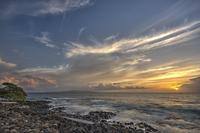 Pacific Ocean at sunset, Maui, Hawaii, USA