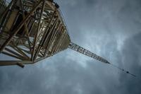 Jib crane upward view, Las Palmas, Gran Canaria, Canary Islands, Spain