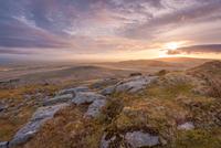 Dartmoor tors and hills, Dartmoor, Devon, England