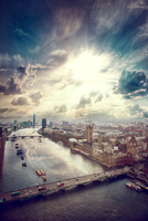 River Thames and City, London, England, UK