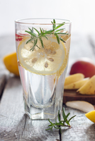 Alcoholic cocktail with lemon slice