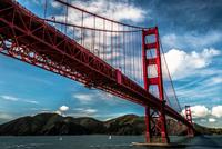 Golden Gate Bridge on cloudy day, San Francisco, California, USA