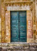 Ancient arabic style door, Sfax, Tunisia