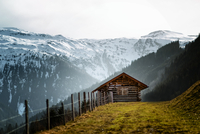 Wooden hut in Austrian Alps, Alps, Austria