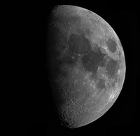 Close-up view of half moon