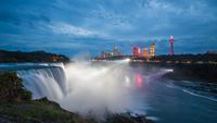 Niagara Falls at night, Niagara Falls, New York, USA