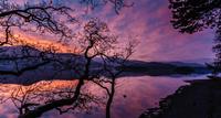 Lake Derwent water in evening, Cumbria, England, UK