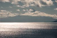 Llanquihue Lake in sunlight, Osorno Volcano in background, Llanquihue Lake, Los Lagos, Chile