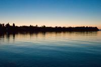 Sunset reflecting in lake
