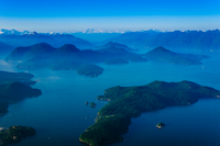 Elevated view of Howe Sound, Vancouver, British Columbia, Canada