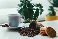 Fresh coffee and biscuits, Turkey