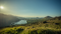 Beautiful view of Healy Pass in sunlight, Toormore, Ireland