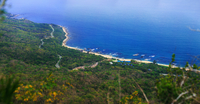 Coastline on sunny day, Sanya, Hainan, China