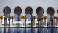 Nave and columns in sheikh Zayed Mosque, Abu Dhabi, United Arab Emirates