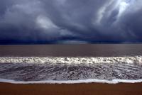 Buckroney beach on cloudy day, Wicklow, Ireland