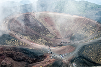 Crater of Etna volcano, Sicily, Italy