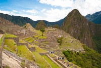 Ancient Incan ruins of Machu Picchu, Cuzco Region, Peru
