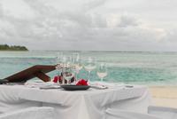 Wedding table on beach