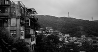 Town of Jiufen under overcast sky, Ruifang, Taiwan