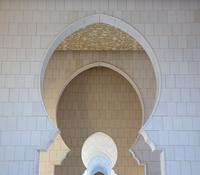Arched gates of Sheikh Zayed Grand Mosque, Abu Dhabi, United Arab Emirates
