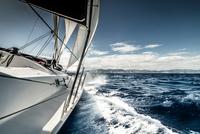 Sailboat on Aegean Sea, Greece