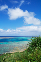 Blue cloudy sky over Ishigaki island, Ishigaki, Okinawa, Japan