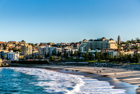 City on coast, Tamarama Beach, Sydney, Australia