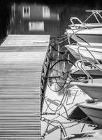 Boats moored on pier, Helsinki, Finland