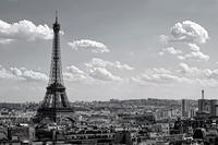 Sky over Paris, Eiffel Tower, Paris, France